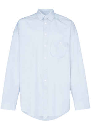 Ader Error oversized cotton-blend shirt - Blue