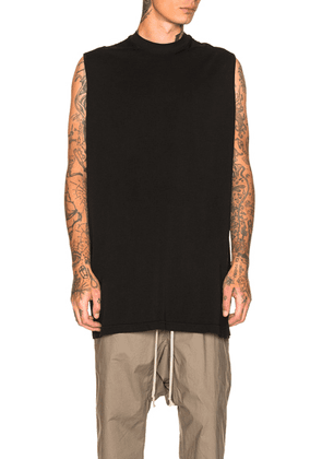 DRKSHDW by Rick Owens Sleeveless Jumbo Tee in Black - Black. Size all.