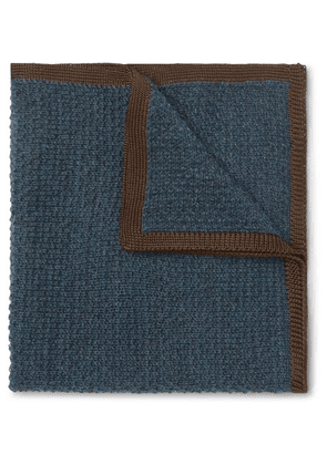 Brioni - Cashmere And Silk-blend Pocket Square - Blue