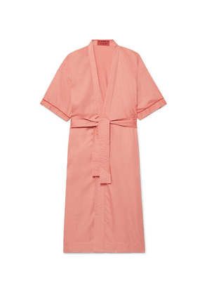 Cleverly Laundry - Piped Washed Cotton-robe - Pink