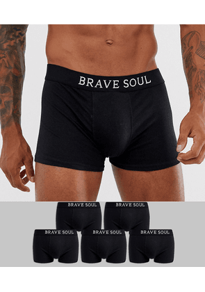 Brave Soul 5 pack boxers in black