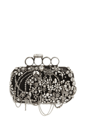 Punk Four Ring Satin Chandelier Clutch