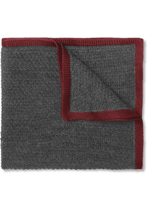 Brioni - Cashmere And Silk-blend Pocket Square - Gray