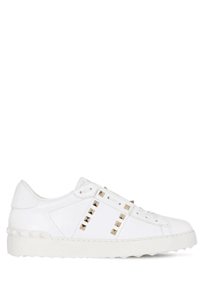20mm Rockstud Untitled Leather Sneakers