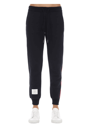 Cotton Sweatpants W/ Logo Stripes