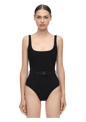 Belted One Piece Swimsuit