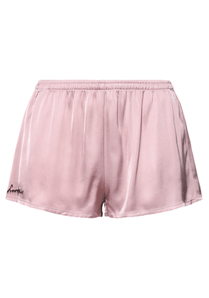 Love Stories Edie Satin Pajama Shorts Woman Lilac Size M