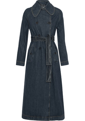 Alexachung Denim Trench Coat Woman Mid denim Size 8