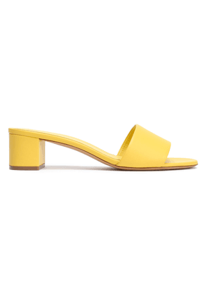 Mansur Gavriel Leather Mules Woman Yellow Size 36.5