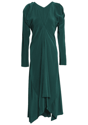 Kitx Draped Silk-satin Midi Dress Woman Teal Size 14