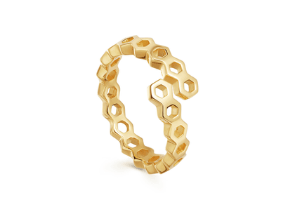 Gold Rhea Acre Overlay Ring