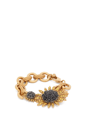 Dolce & Gabbana - Sunflower Crystal Embellished Bracelet - Womens - Gold