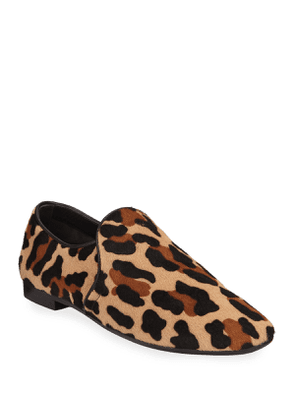 Revy Leopard Calf Hair Loafers