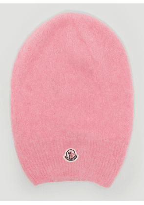 Moncler Tricot Knitted Beanie Hat in Pink size One Size