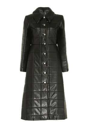 A.W.A.K.E. Miss Roboto Quilted Faux Leather Coat