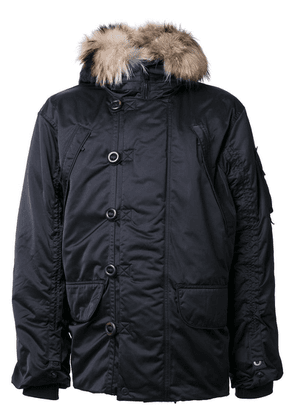 Kru Maverick fur hood parka - Black