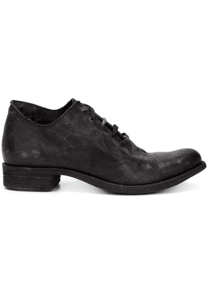 A Diciannoveventitre distressed lace-up shoes - Black