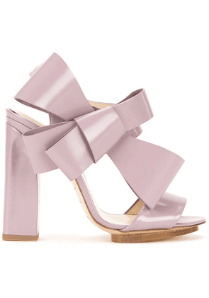 Delpozo oversized bow sandals - Pink