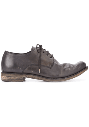 A Diciannoveventitre distressed derby shoes - Brown