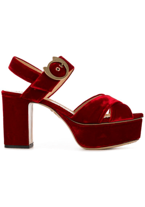 Charlotte Olympia Aristocat 90 sandals - Red