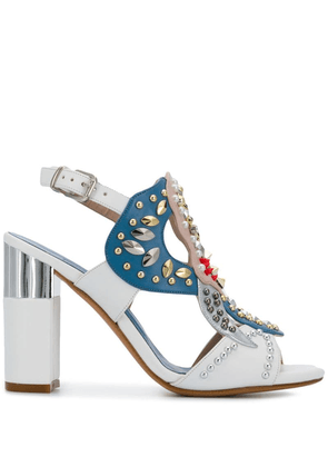 Albano embellished open-toe pumps - White