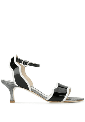Francesca Bellavita Stardust kitten heel sandals - Black