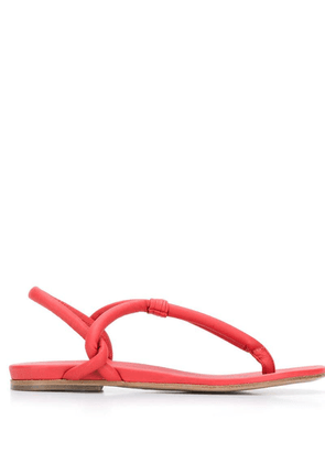 Del Carlo thong strap sandals - Red