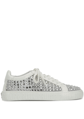 Philipp Plein low-top crystal sneakers - White