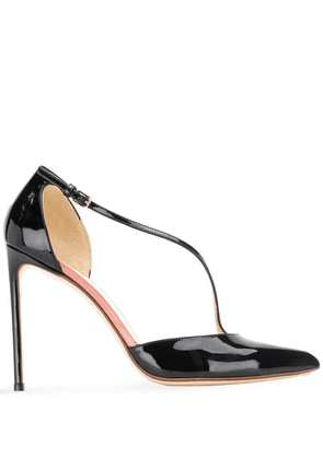 Francesco Russo cross strap pumps - Black