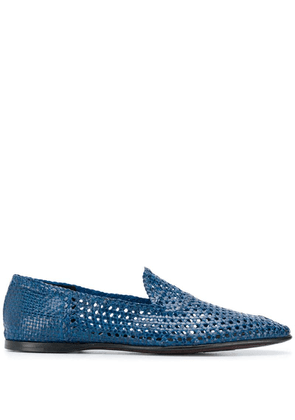 Dolce & Gabbana woven loafers - Blue