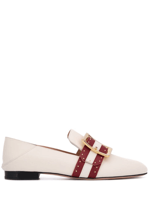 Bally Janelle buckle loafers - White