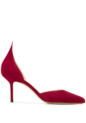Francesco Russo pointed stiletto pump - Red