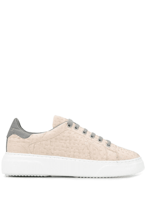 By Walid stitch detail low top sneakers - Neutrals