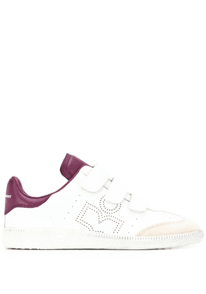 Isabel Marant perforated logo sneakers - White