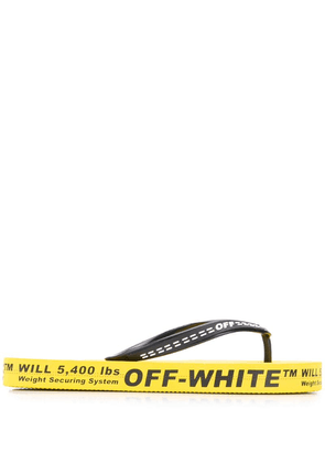 Off-White industrial flip flops - Yellow