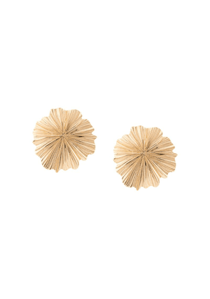 Aurelie Bidermann floral shape clip-on earrings - Gold