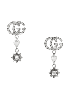 Gucci Flower and Double G earrings with diamonds - 9066