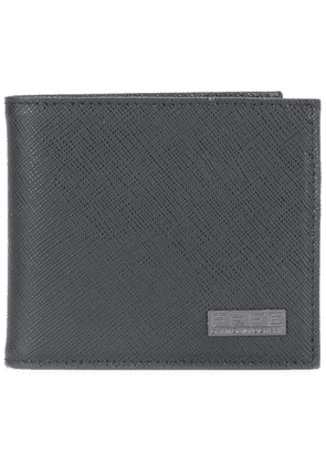 Fefè logo plaque wallet - Black
