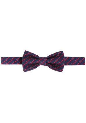 Fefè anchor print bow tie - Blue