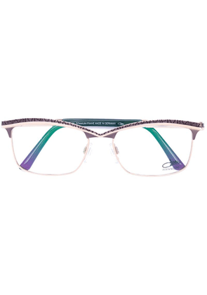 Cazal rectangle frame glasses - Green