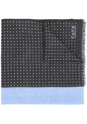 Fefè polka dot patterned scarf - Blue