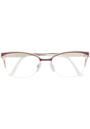 Cazal rectangular shaped glasses - White