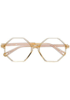Chloé Eyewear hexagon-framed glasses - Gold