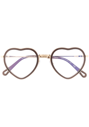 Chloé Eyewear heart-framed glasses - Brown