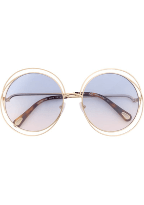 Chloé Eyewear oversized round sunglasses - Metallic