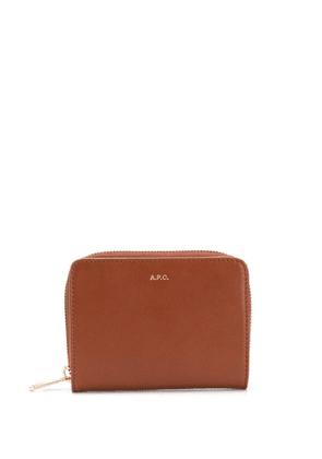 A.P.C. small logo wallet - Brown