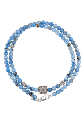 Catherine Michiels crystal square beaded necklace - Blue
