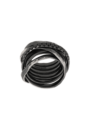 Chin Teo layered cage ring - Metallic