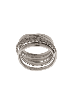 Chin Teo layered embellished ring - Silver