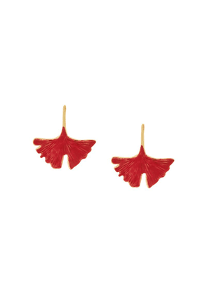 Aurelie Bidermann Tangerin earrings - Red